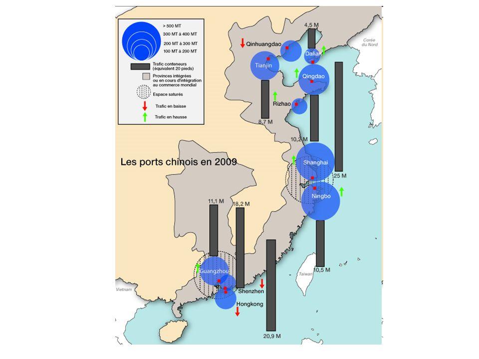 Les espaces de lAsie orientale et les échanges : Rôle de la diaspora chinoise (population Han très présente, voire majoritaire dans certains relais majeurs: Macao, Singapour, etc.)