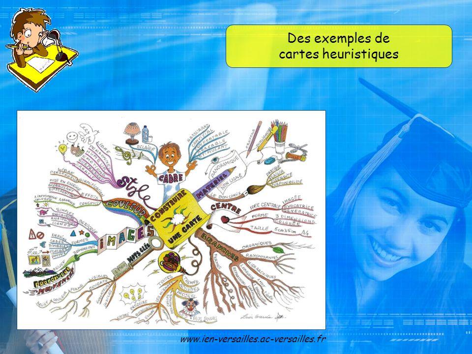 Des exemples de cartes heuristiques www.ien-versailles.ac-versailles.fr