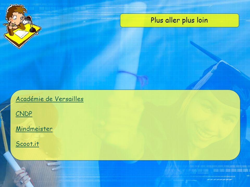 Plus aller plus loin Académie de Versailles CNDP Mindmeister Scoot.it