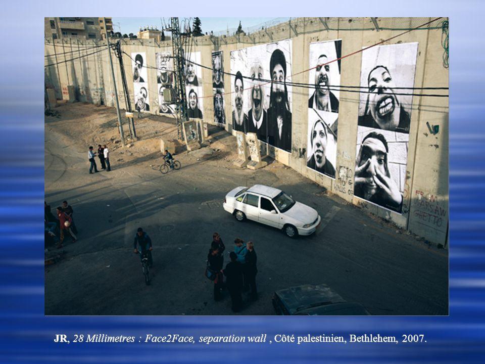 JR, 28 Millimetres : Face2Face, separation wall, Côté palestinien, Bethlehem, 2007.