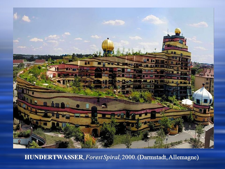 HUNDERTWASSER, Forest Spiral, 2000. (Darmstadt, Allemagne)