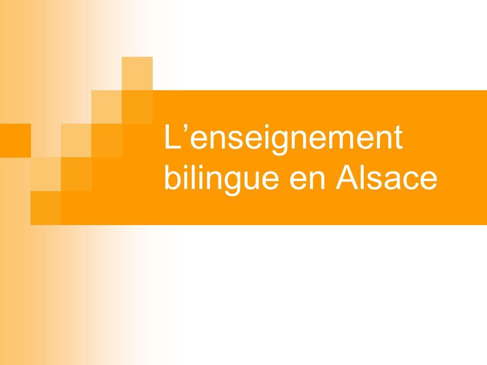 Lenseignement bilingue en Alsace