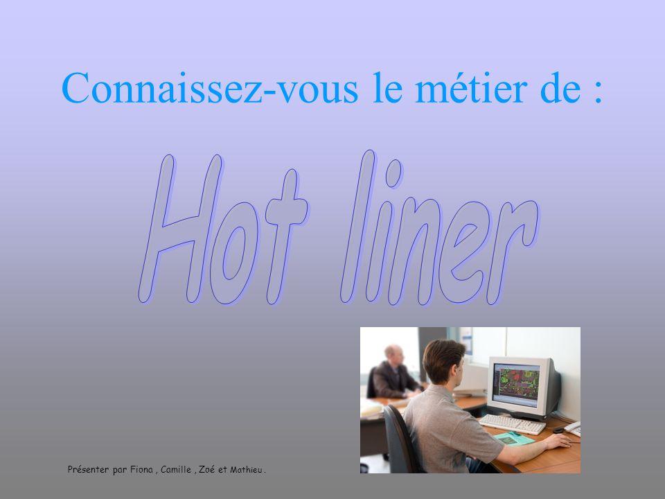 Connaissez-vous le métier de : Présenter par Fiona, Camille, Zoé et Mathieu.
