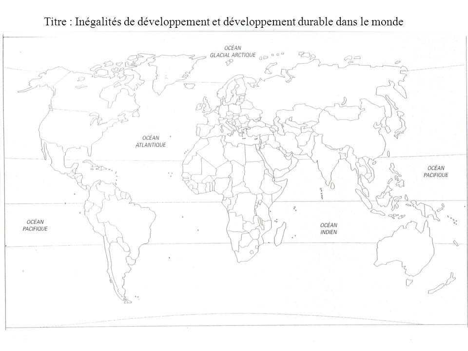 Problématique Les inégalités de développement ont-elles pour conséquence la mise en place ou labsence de mise en place de politiques de développement durable ?