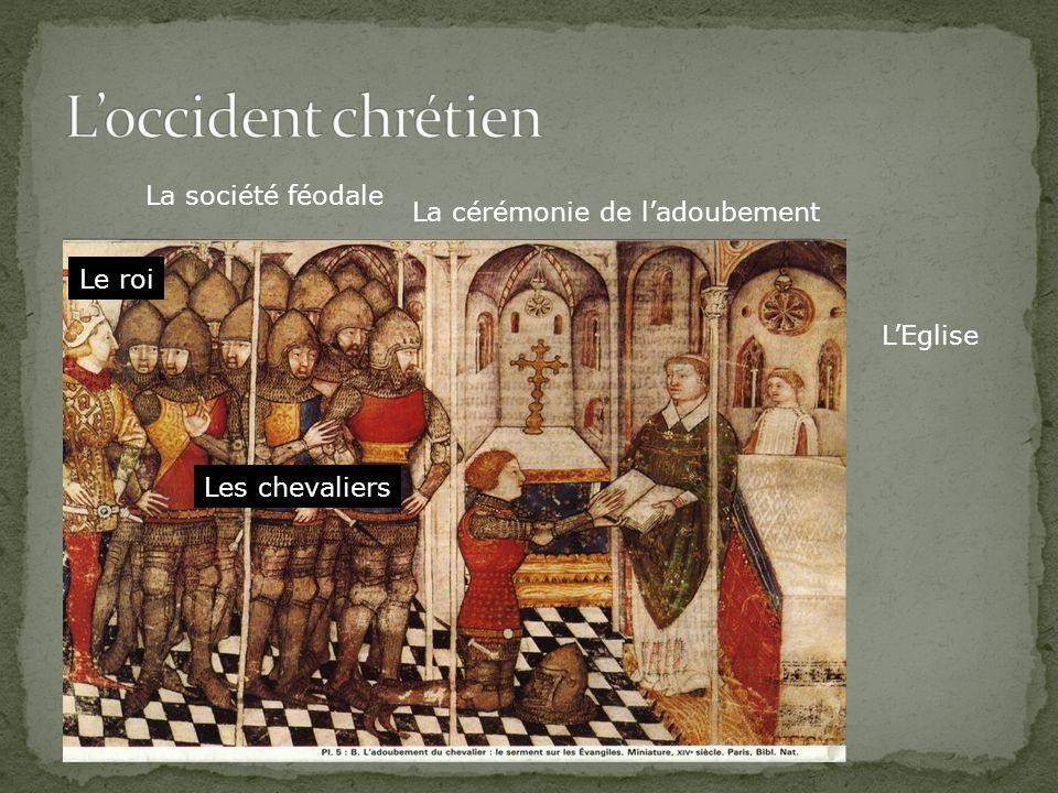 La société féodale La cérémonie de ladoubement LEglise Le roi Les chevaliers