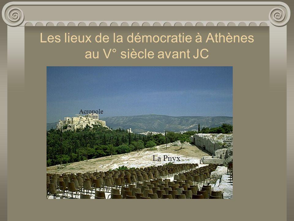 Les lieux de la démocratie à Athènes au V° siècle avant JC La Pnyx Acropole