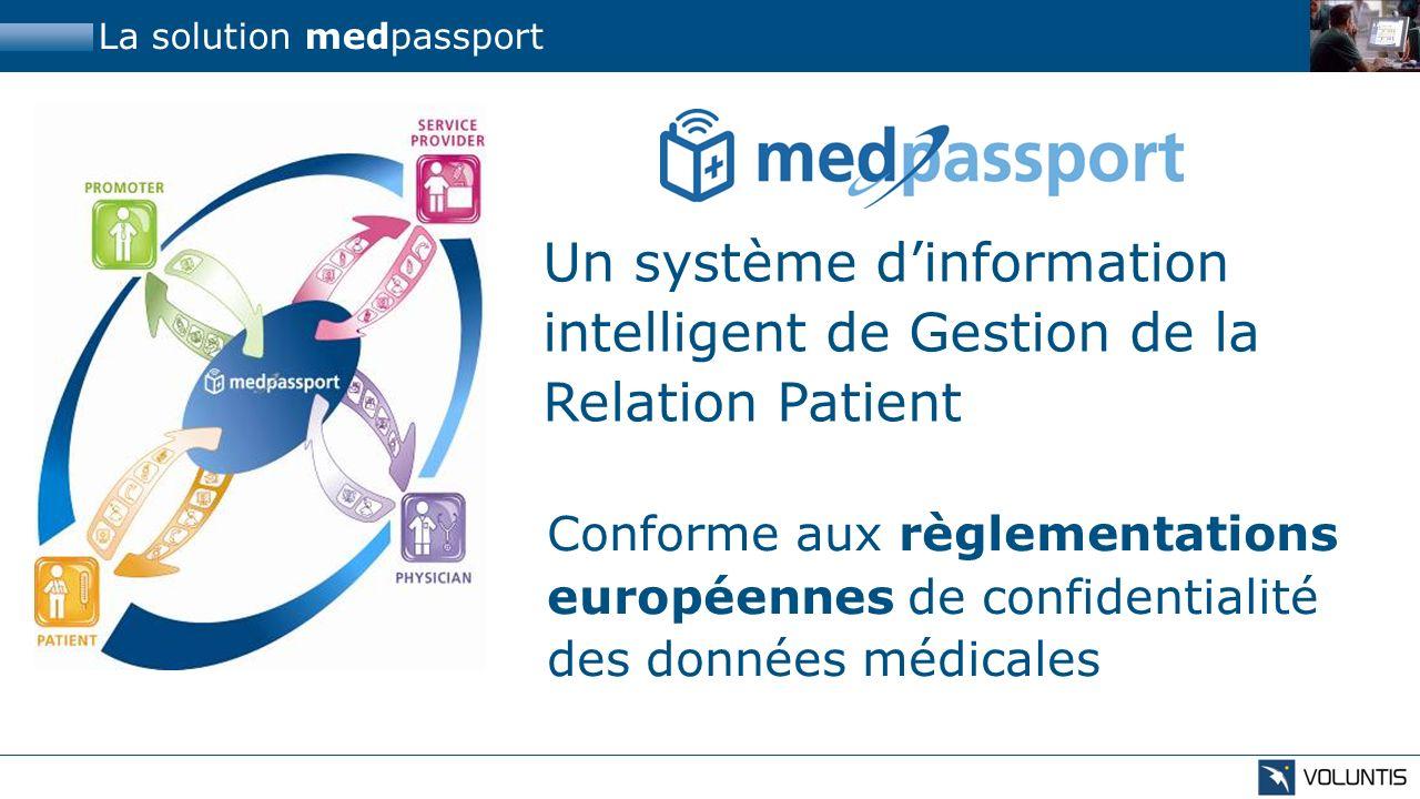 La solution medpassport Un système dinformation intelligent de Gestion de la Relation Patient Conforme aux règlementations européennes de confidential