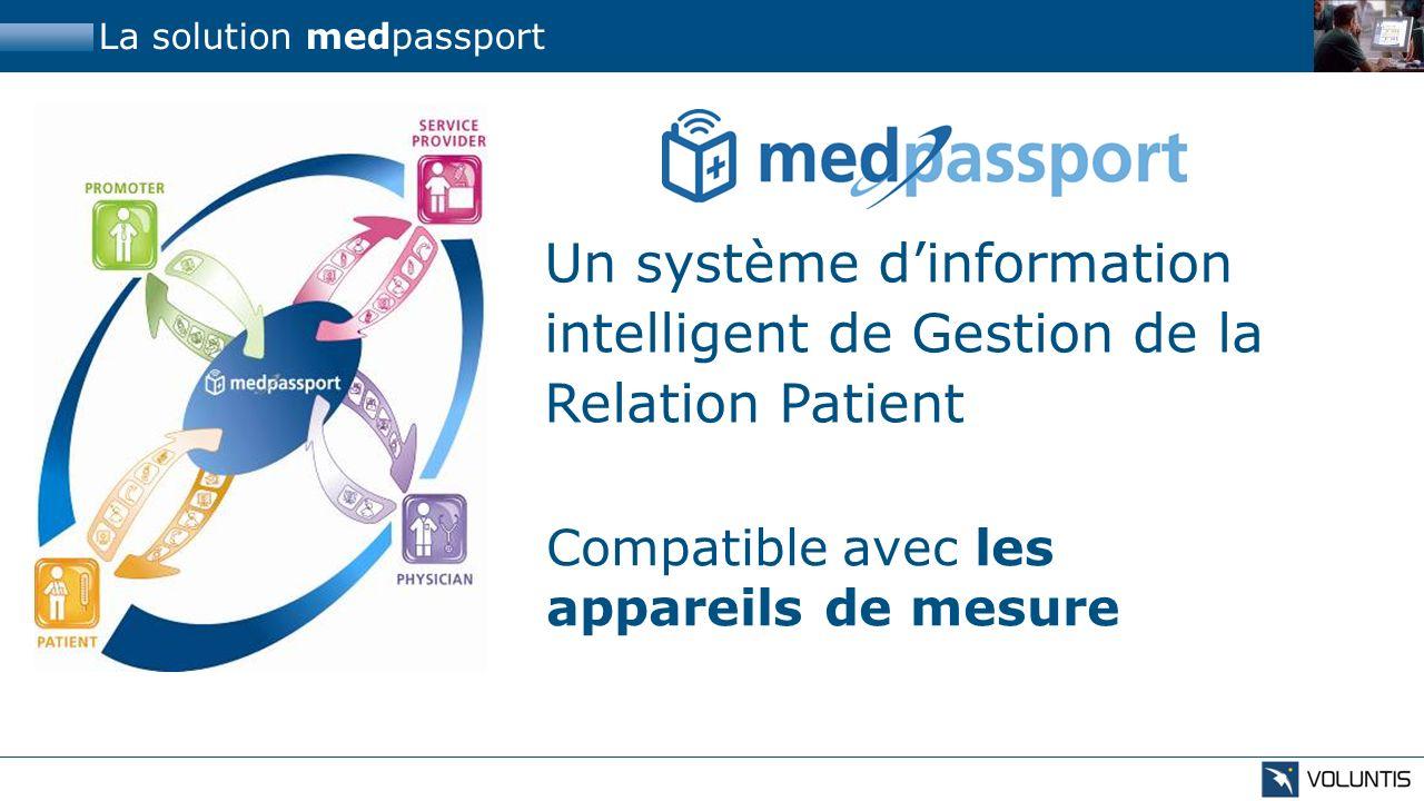 La solution medpassport Un système dinformation intelligent de Gestion de la Relation Patient Utilisant les canaux de communication adaptés GSM Téléphone WebPDA Courrier Call-Center