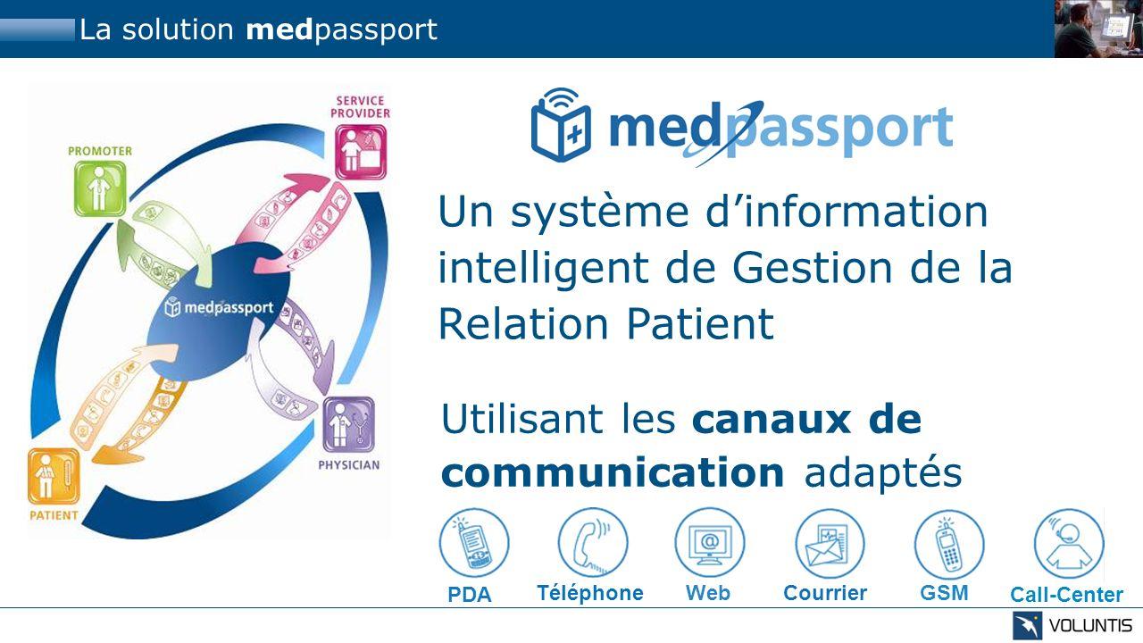 La solution medpassport Un système dinformation intelligent de Gestion de la Relation Patient Utilisant les canaux de communication adaptés GSM Téléph