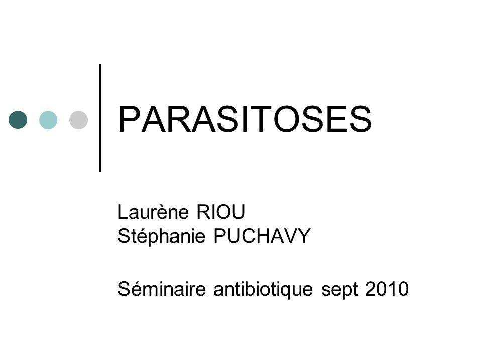 PARASITOSES Laurène RIOU Stéphanie PUCHAVY Séminaire antibiotique sept 2010