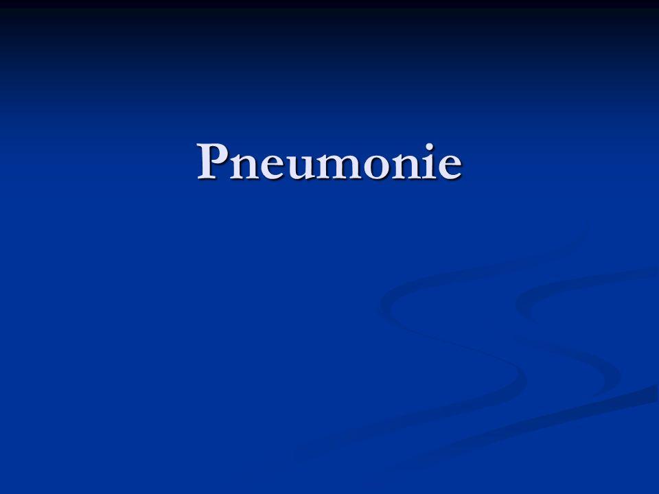 PNEUMONIE Epidemiologie -Pneumonies 5 à 10% des IRB -60 a 80 % dorigine bactérienne -400 a 600 000 cas par an en France -Vaccin contre la grippe et le pneumocoque probablement protecteurs -6ème cause de mortalité aux USA -Décès 5,1 % en ambulatoire 13,6% en hospitalisation 36,5 % en réanimation
