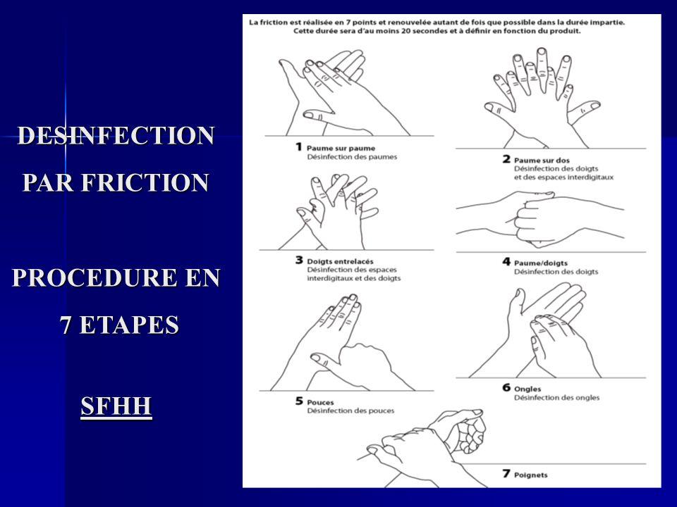 DESINFECTION PAR FRICTION PROCEDURE EN 7 ETAPES 7 ETAPESSFHH