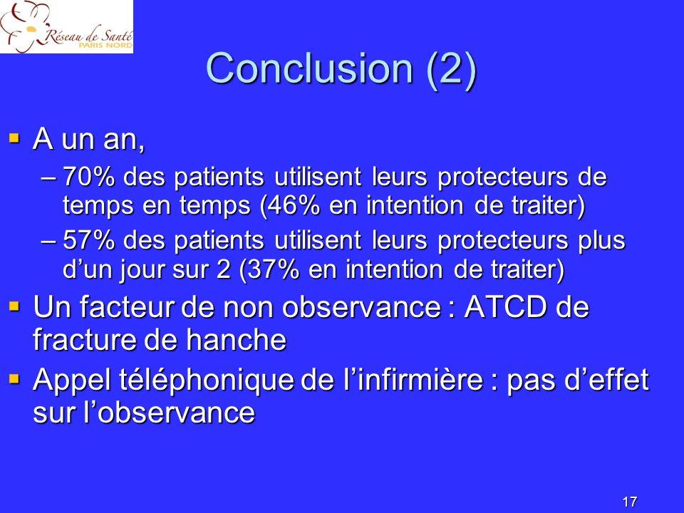 18 Conclusion(3) Questions Questions –Protecteurs souples .