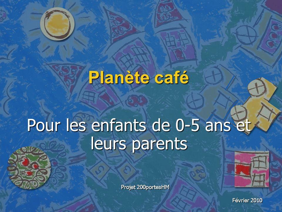 Planète café Pour les enfants de 0-5 ans et leurs parents Projet 200portesHM Février 2010