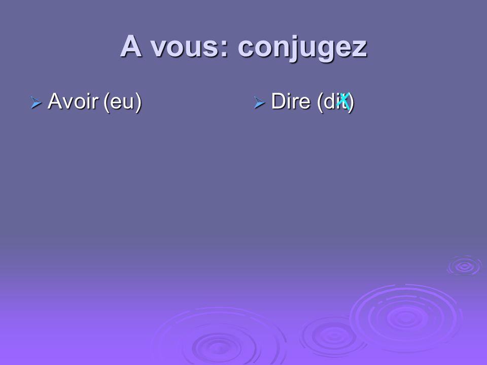 Comment former le passé simple des verbes irréguliers? Les terminaisons sont: Les terminaisons sont: --s --s --t --t --ˆmes --ˆmes --ˆtes --ˆtes --ren