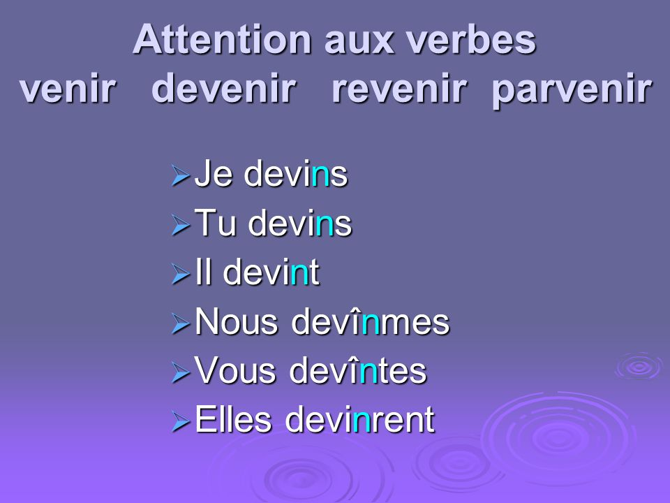 Comment traduire? Je bus I drank I did drink I have drunk
