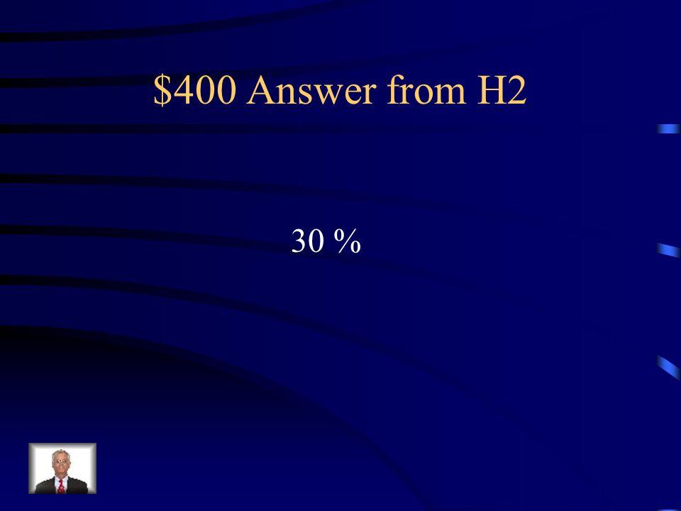 $400 Question from H2 Le chocolat au lait doit avoir au moins quel pourcentage de cacao