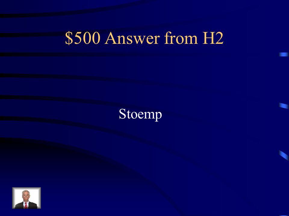 $500 Question from H2 Cest un plat dorigine flamand composé d une purée de pommes de terre mélangée avec un ou plusieurs légumes