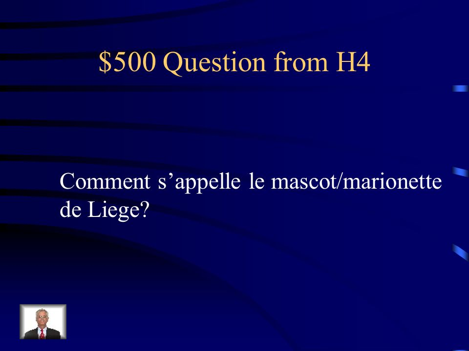 $400 Answer from H4 Bruxelles