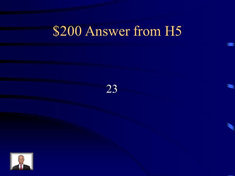 $200 Question from H5 Combien de langues officielles sont dans lUnion Européenne?