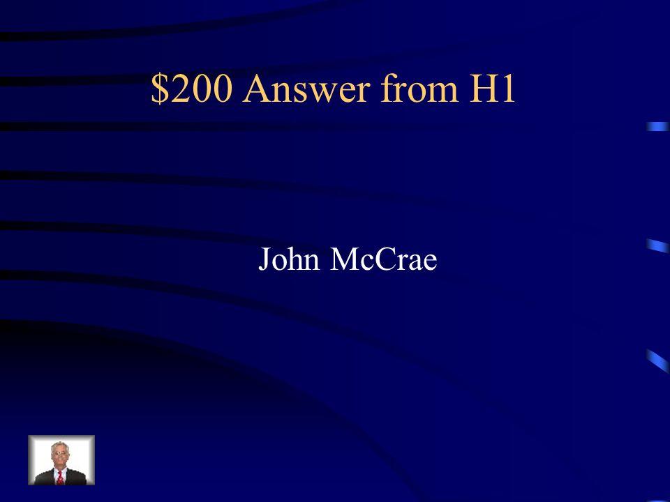 $200 Answer from H3 La Schtroumpfette