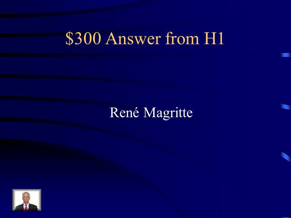 $300 Answer from H4 La Brabançonne