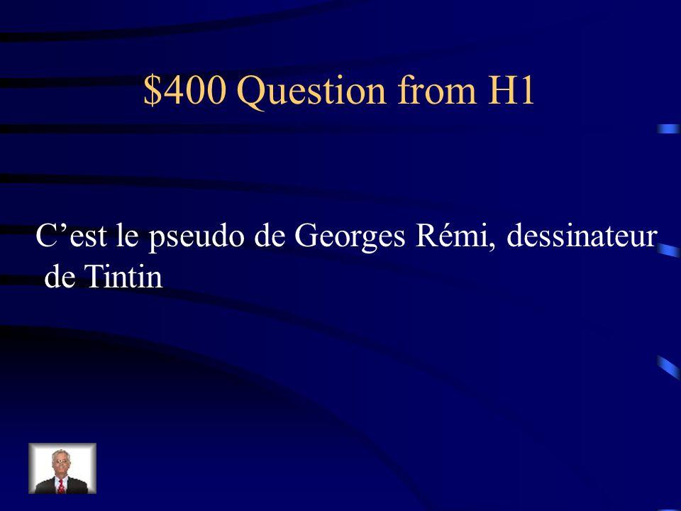 $400 Question from H3 Quel est lage du Grand Schtroumpf?