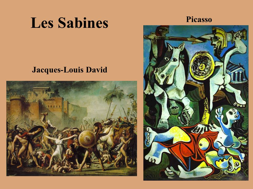 Les Sabines Jacques-Louis David Picasso