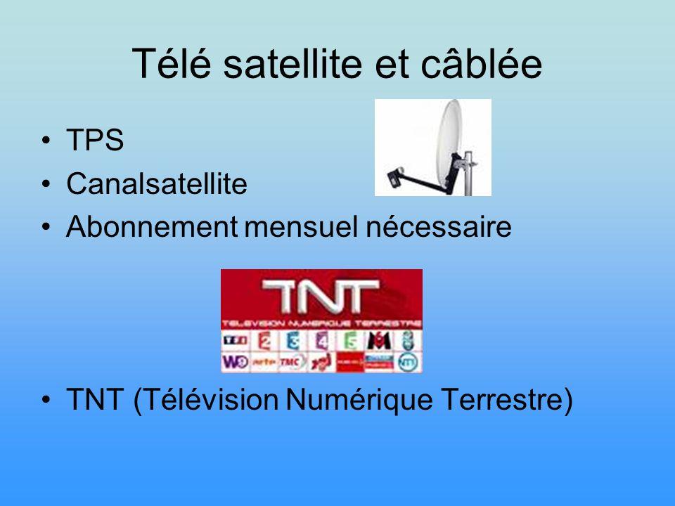 Télé satellite et câblée TPS Canalsatellite Abonnement mensuel nécessaire TNT (Télévision Numérique Terrestre)