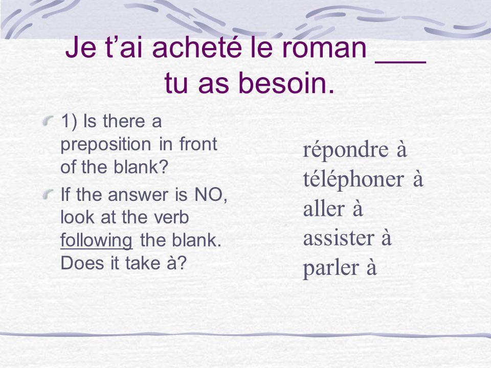 dont Madame est le professeur dont les filles parlent français.