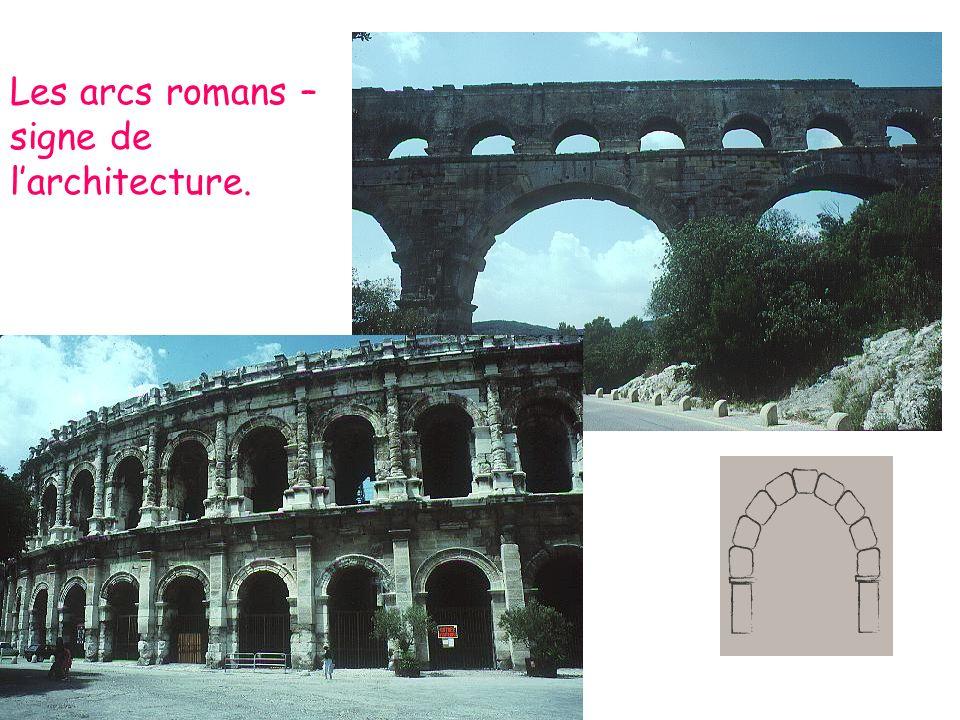 Les arcs romans – signe de larchitecture.