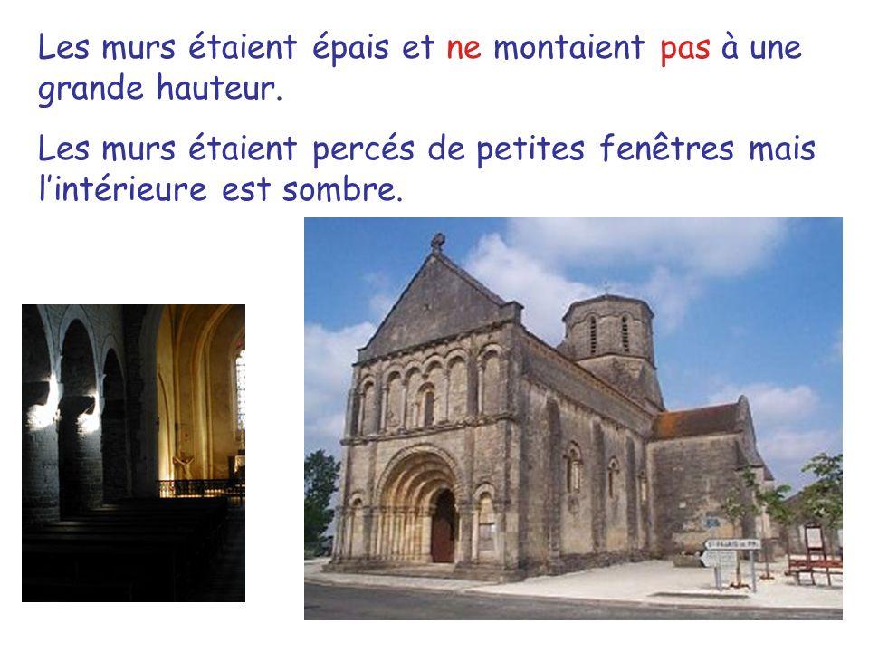 Caractéristiques dune église /cathédrale gothique Les murs sont plus légers à cause des croisées dogives, des contreforts, et des arcs-boutants.