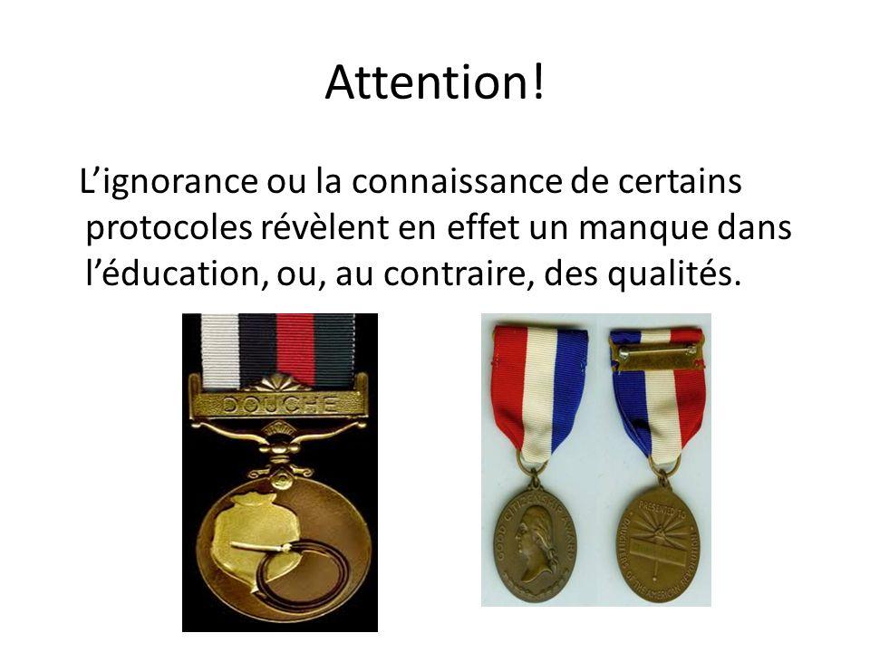 Attention! Lignorance ou la connaissance de certains protocoles révèlent en effet un manque dans léducation, ou, au contraire, des qualités.