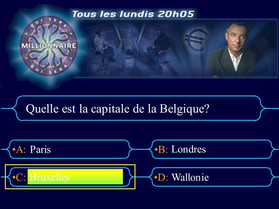 A:B: D:C: Quelle est la capitale du Luxembourg? Bruxelles Paris Lisbonne Luxembourg