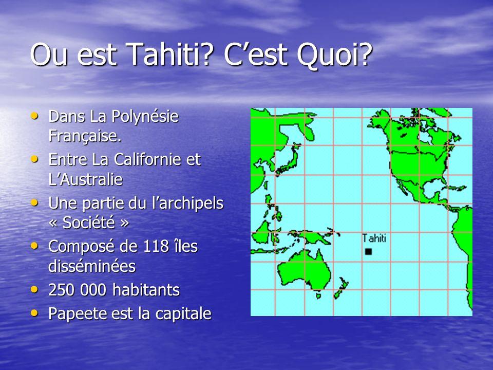 Ou est Tahiti. Cest Quoi. Dans La Polynésie Française.