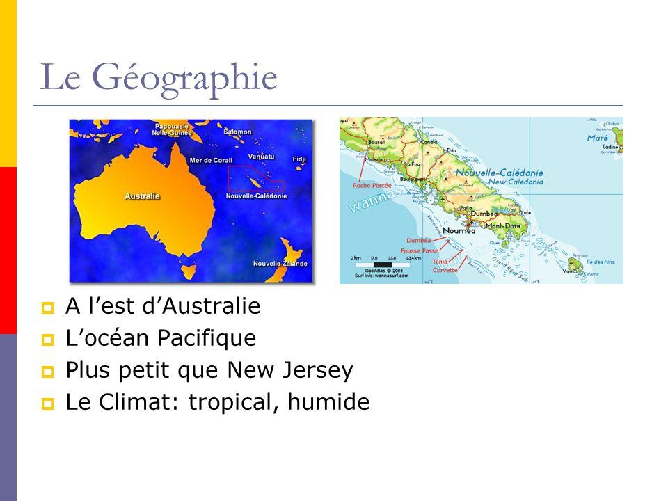 Le Géographie A lest dAustralie Locéan Pacifique Plus petit que New Jersey Le Climat: tropical, humide