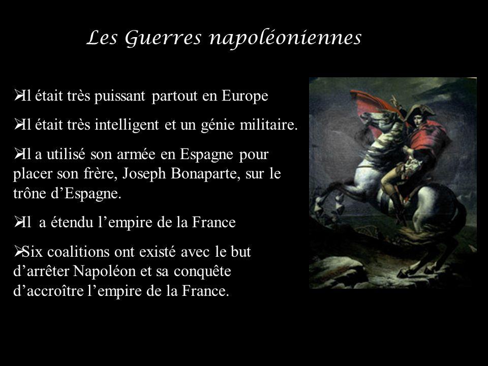 Il était très puissant partout en Europe Il était très intelligent et un génie militaire. Il a utilisé son armée en Espagne pour placer son frère, Jos