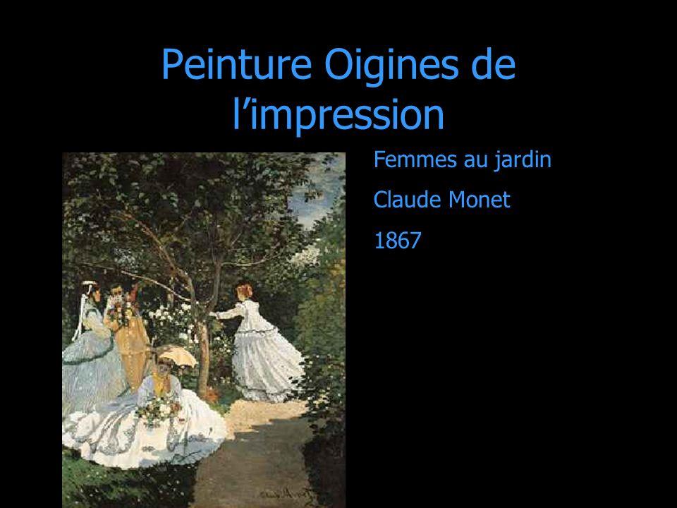Peinture Oigines de limpression Femmes au jardin Claude Monet 1867