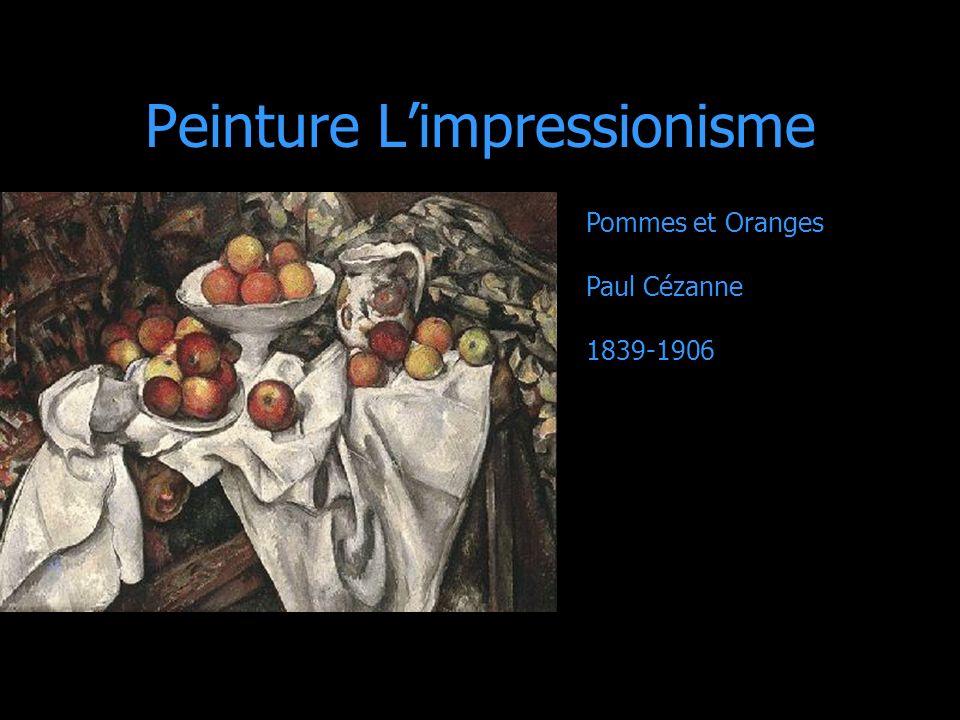 Peinture Limpressionisme Pommes et Oranges Paul Cézanne 1839-1906