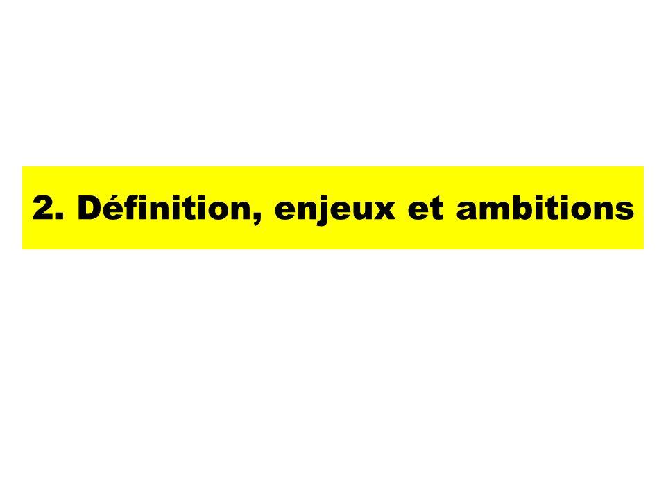 2. Définition, enjeux et ambitions