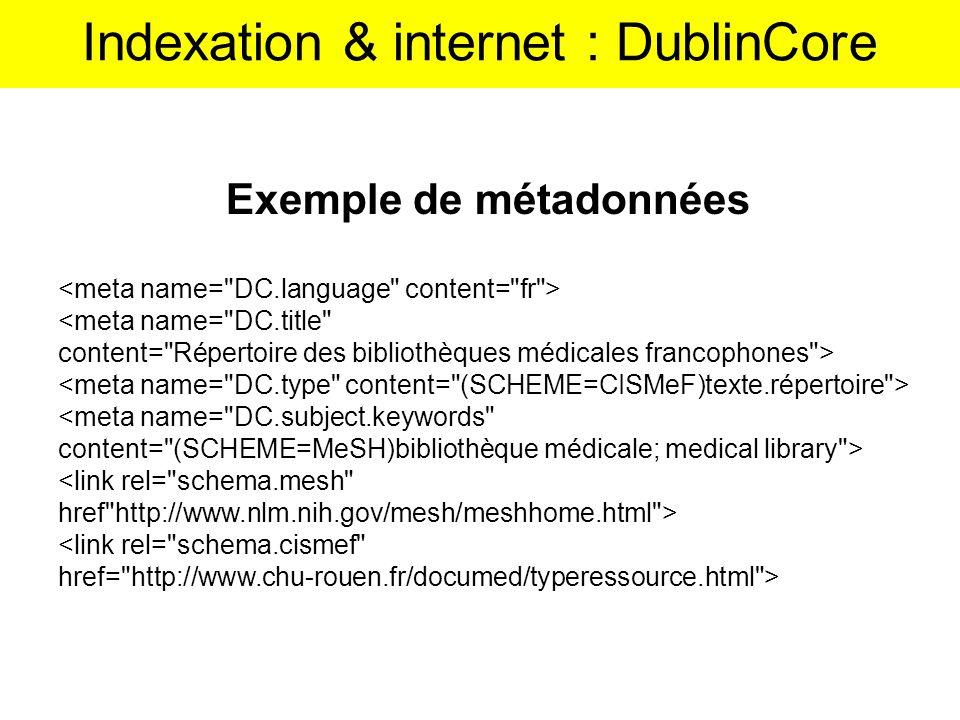Exemple de métadonnées <meta name=