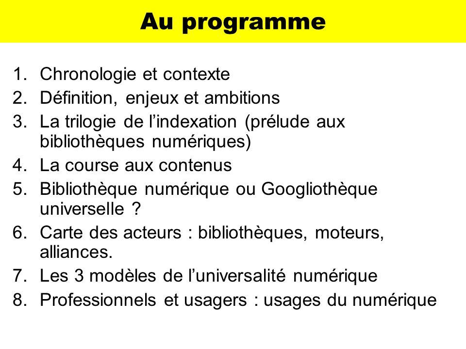 Les 3 modèles Modèle « bibliothéconomique » –Celui de la bibliothèque européenne.
