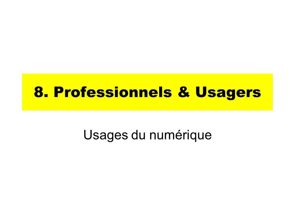 8. Professionnels & Usagers Usages du numérique