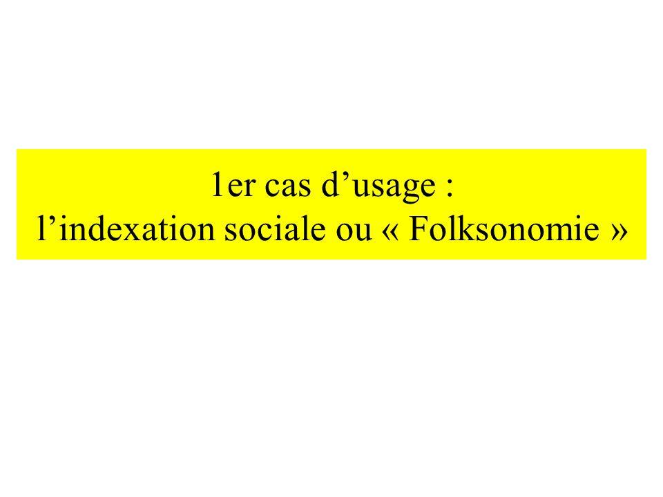 1er cas dusage : lindexation sociale ou « Folksonomie »