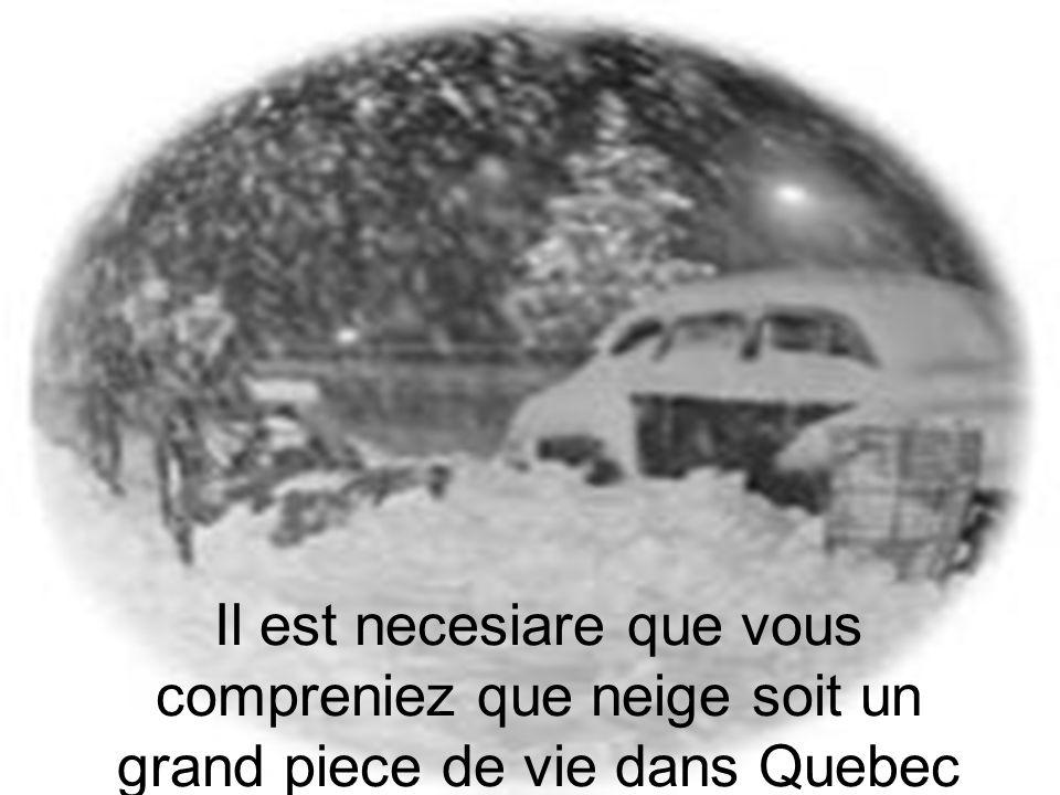 Il est necesiare que vous compreniez que neige soit un grand piece de vie dans Quebec