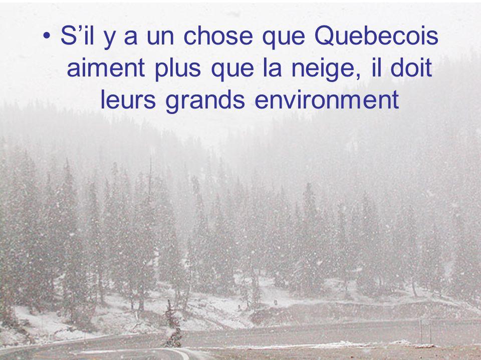 Sil y a un chose que Quebecois aiment plus que la neige, il doit leurs grands environment