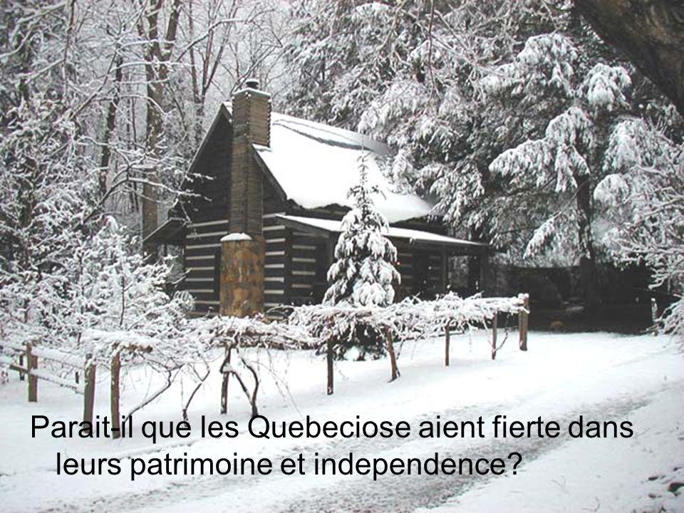 Parait-il que les Quebeciose aient fierte dans leurs patrimoine et independence?