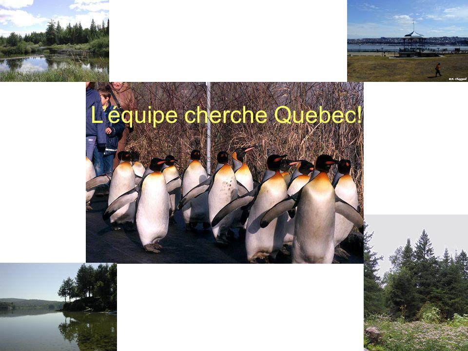 Léquipe cherche Quebec!