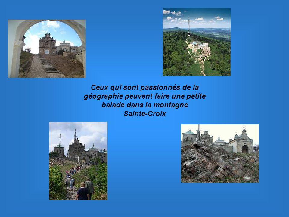 Ceux qui sont passionnés de la géographie peuvent faire une petite balade dans la montagne Sainte-Croix
