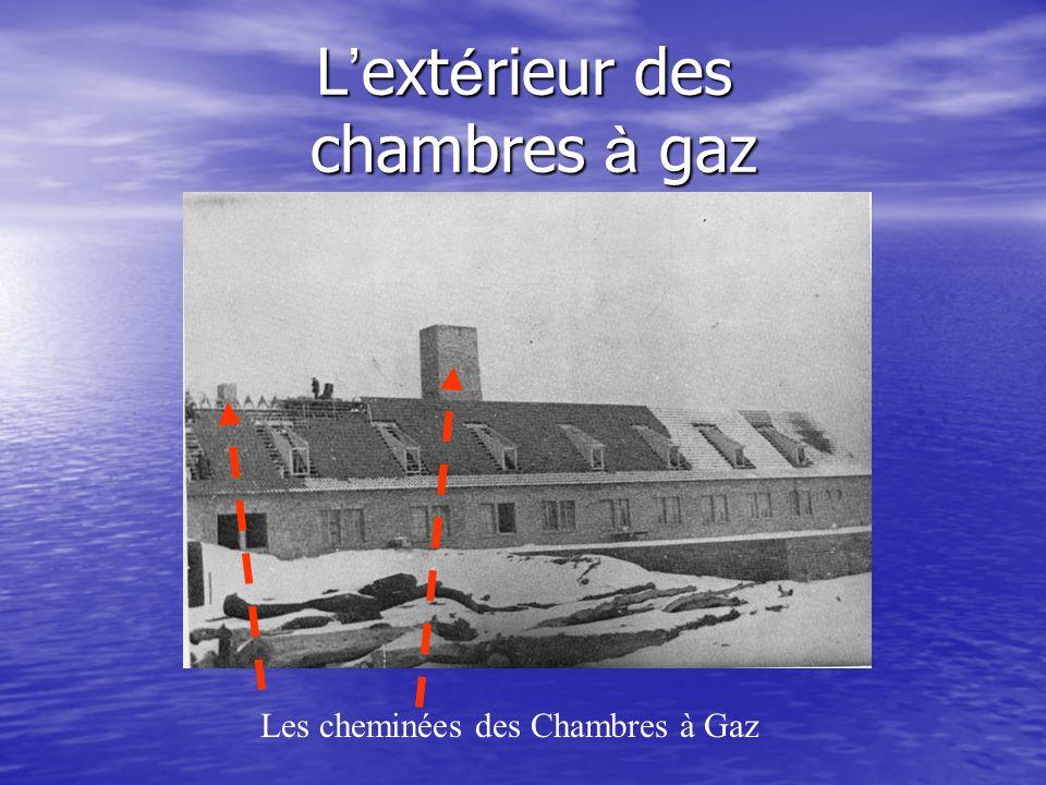L ext é rieur des chambres à gaz Les cheminées des Chambres à Gaz